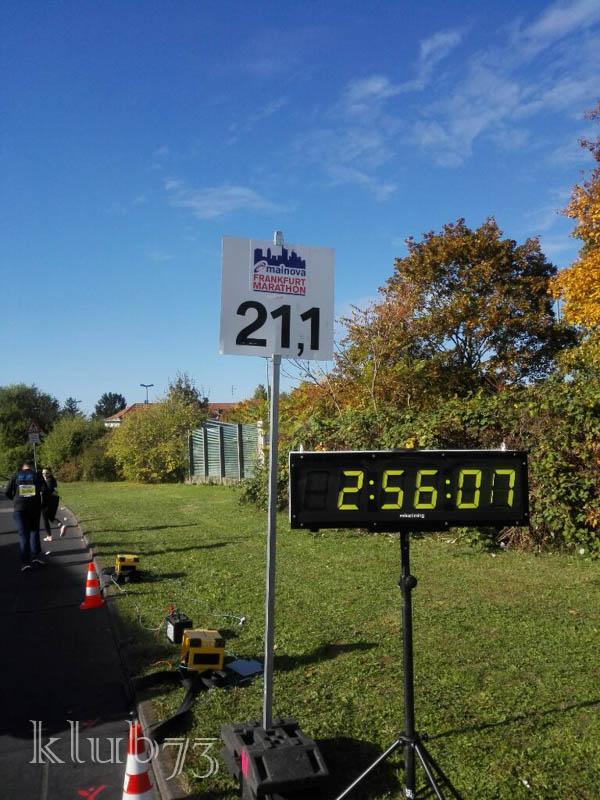 Halbzeit Kilometer 21,1 nach 02:37h