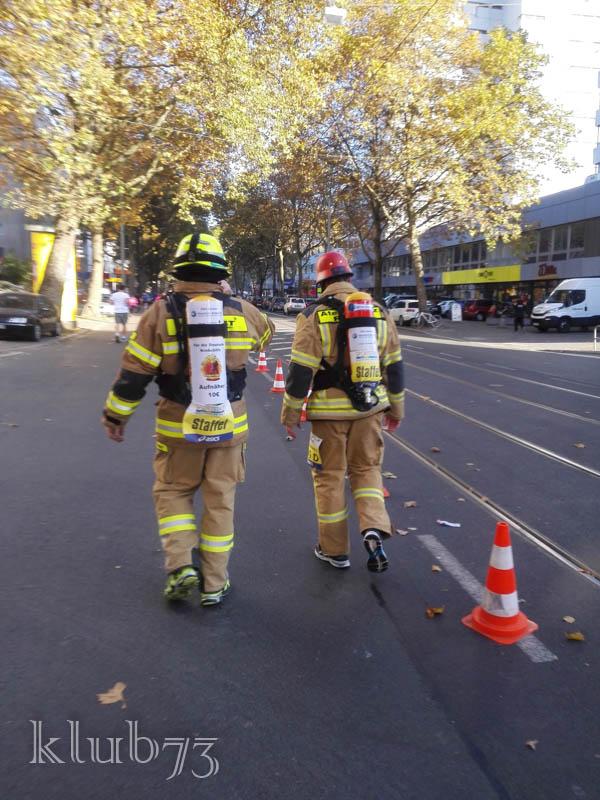 Feuerwehr läuft Staffelmarathon Kilometer 33,7 nach 04:09h