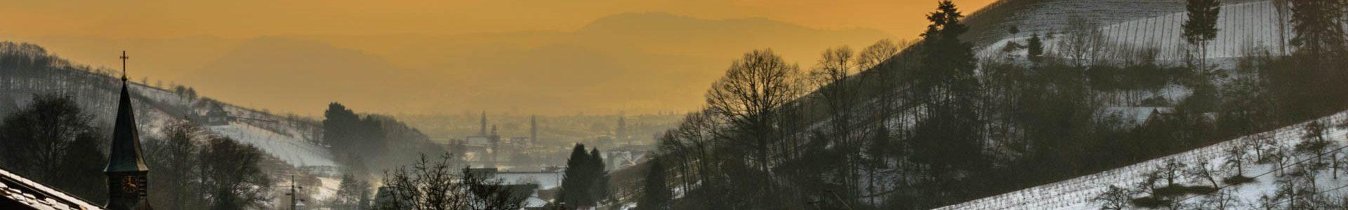 Foto: Abendrot trifft Nebel